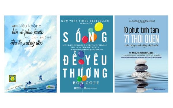 Combo 3 cuốn sách:Nếu không tiến về phía trước, mọi con đường đều là xuống dốc/10 phút tĩnh tâm - 71 thói quen cân bằng cuộc sống hiện đại/Sống để yêu thương: Bí mật về tình yêu để có cuộc sống hạnh phúc tv
