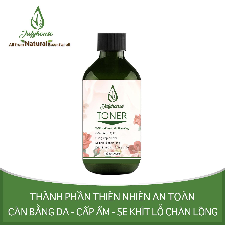 [Chính Hãng] Toner chiết xuất tinh dầu Hoa Hồng 300ml JULYHOUSE cao cấp