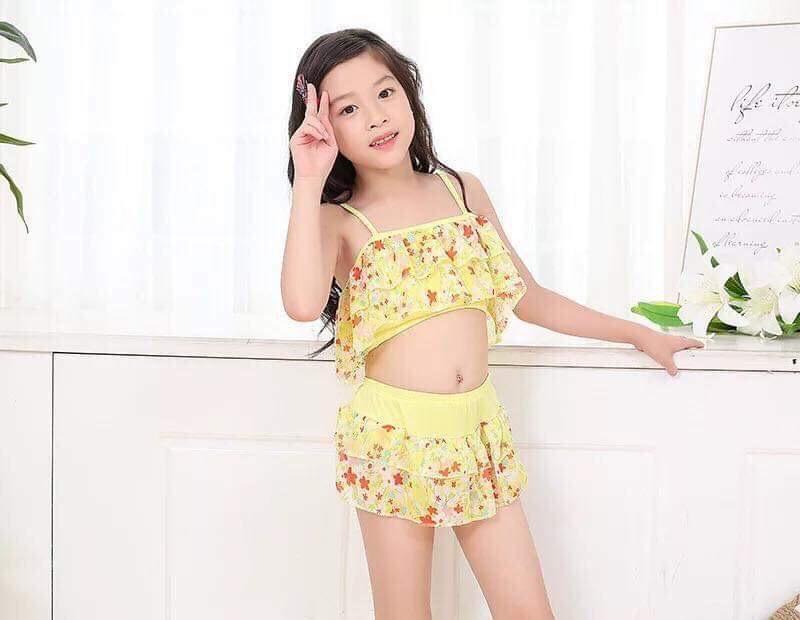 Bộ đồ bơi bé gái 3 cách mặc (freesize 25-35kg)