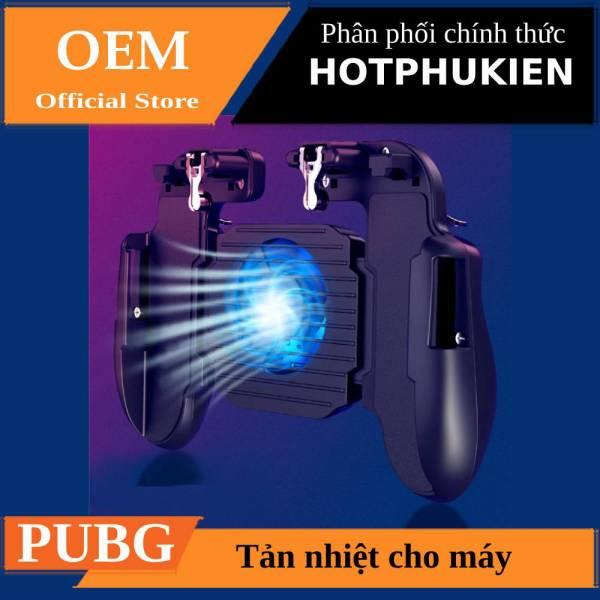 Bộ gamepad tản nhiệt kiêm nút chơi game PUBG HE5 HOTCASE kiêm giá đỡ cho điện thoại máy tính bảng  - Phân phối bới hotphukien