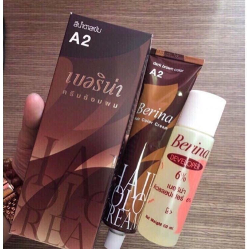 Thuốc nhuộm tóc thái A2 màu nâu nhạt nhập khẩu