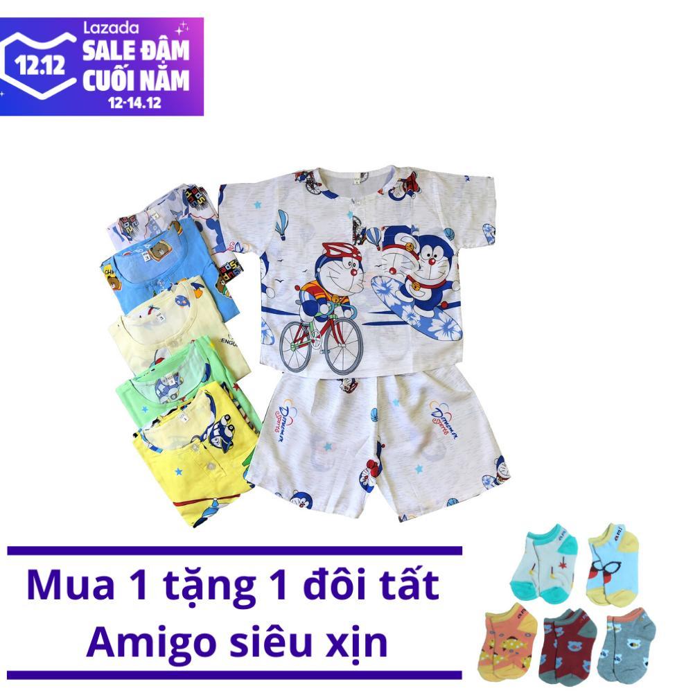 Deal Khuyến Mại COMBO 3 Bộ Quần Áo Cộc Tay TOLE 2 DA (Loại 1) Mát, Mềm, Mịn Cho Bé Trai Từ 5-38kg