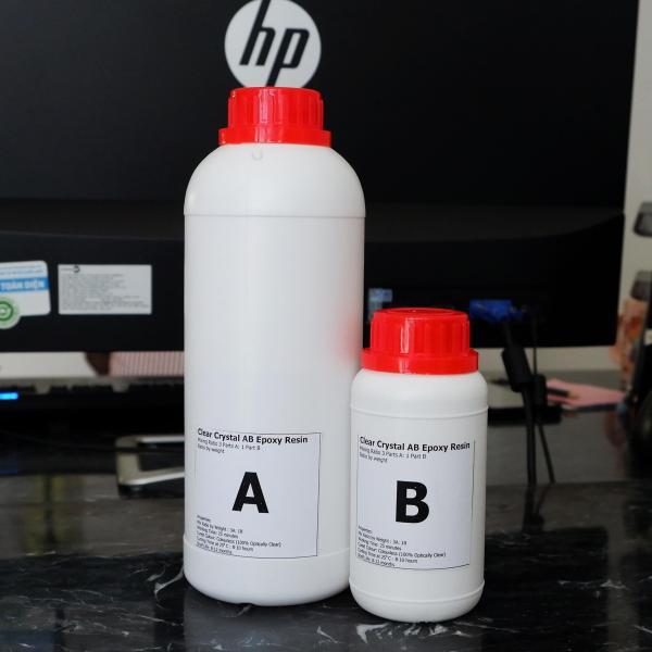 Keo đổ nhựa phủ sàn, phủ ảnh, vẽ 3D, đổ bàn Epoxy Resin loại thường khô cứng DTAB1-A3 1kg