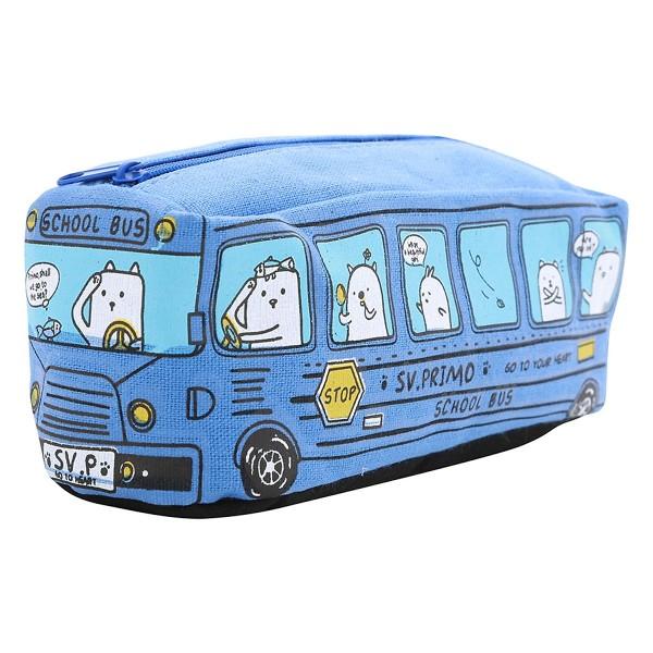 Bóp Viết Hình Xe Bus - Xanh