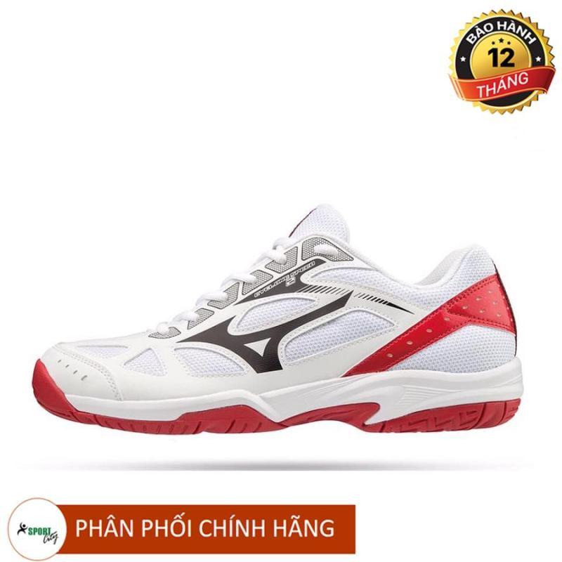 Giầy cầu lông, giày bóng chuyền, giày thể thao Mizuno V1GA198008 màu trắng cao cấp chuyên nghiệp cực êm và thoáng khí, hút mồ hôi cực tốt trong vận động kéo dài dành cho nam