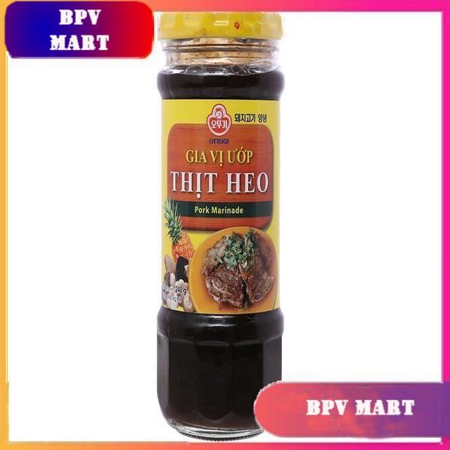 Gia vị ướp thịt heo hũ 240g - OTTOGI - NƯỚC ƯỚP THỊT NƯỚNG HÀN QUỐC