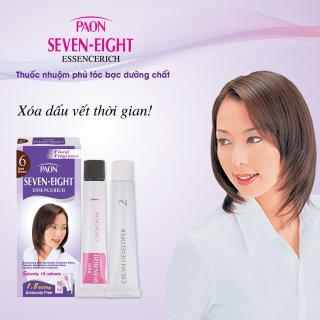 Thuốc nhuộm phủ tóc bạc dưỡng chất hương hoa cỏ SEVEN-EIGHT ESSENCERICH - NHẬT BẢN - số 6 Dark Brown - Nâu đậm thumbnail