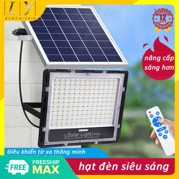 Bảng giá Bộ đèn pha led năng lượng mặt trời công suất 100W-200W-300W mẫu mới 2020 có đèn báo pin chế độ bật tắt tự động cảm biến hồng ngoại điều khiển từ xa thông minh