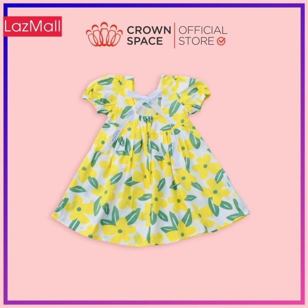 Giá bán Váy Hoa Đậu Biếc Chính Hãng Crown Kids CKGS2811109 Size Từ 1-6 Cotton Thoáng Mát