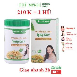 Mầm đậu nành nguyên xơ Tuệ Minh có đủ giấy ATVSTP (hộp 0.5kg) - Tăng vòng 1, chống lão hoá, điều hoà hormone, đẹp da, hỗ trợ tăng cân, giảm cân. thumbnail