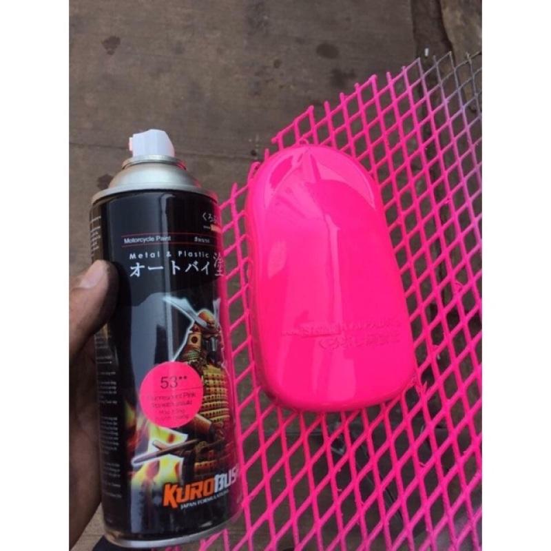 53-sơn xịt samurai màu hồng huỳnh quang chất lượng đảm bảo an toàn đến sức khỏe người sử dụng cam kết hàng đúng mô tả