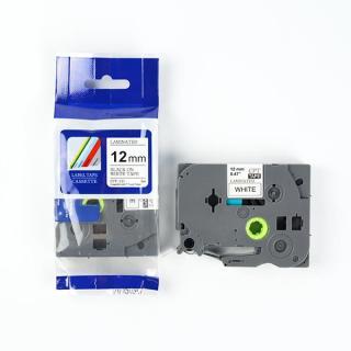 Nhãn in CPT-231 tương thích máy in nhãn Brother P-Touch - Nhãn in chữ đen nền trắng khổ 12mm thumbnail