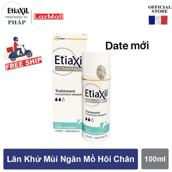 Lotion Etiaxil ngăn ngừa hôi chân, kháng khuẩn lên đến 72h - 100ml dành cho DA NHẠY CẢM
