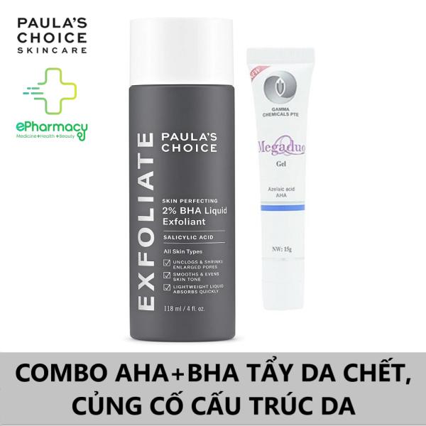 Paulas Choice BHA 2% + Megaduo (AHA) Gel 15g - COMBO AHA + BHA Tẩy Da Chết, Củng Cố Cấu Trúc Da cao cấp