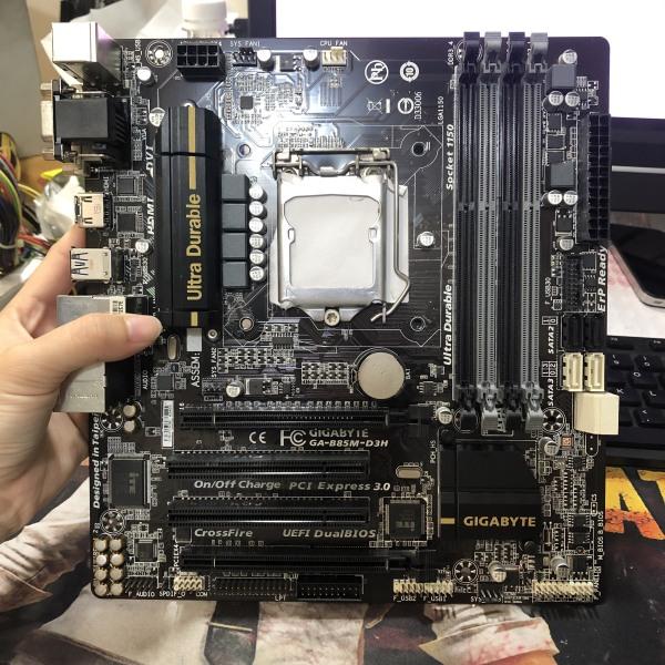 Giá Main Giga B85 4 khe ram socket 1150 chạy các CPU G3xxx i3 4xxx i5 4xxx bảo 3 tháng lỗi 1 đổi 1