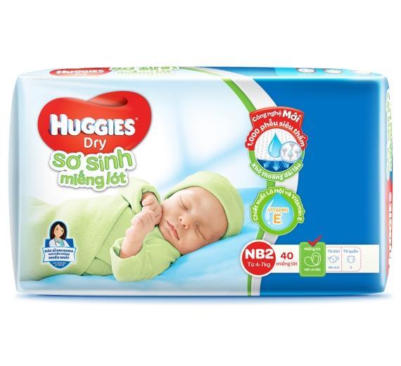 Miếng lót sơ sinh Huggies Newborn 2 (40 miếng)