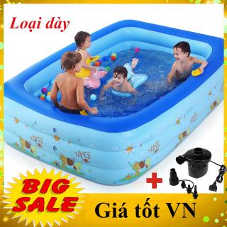 [SIÊU HOT- GIÁ SẬP SÀN -1M3 1M5 1M8 2M1] Bể bơi phao 3 tầng hình chữ nhật cao cấp cho bé và gia đình vui chơi gắn kết yêu thương - GDVINH03 thumbnail