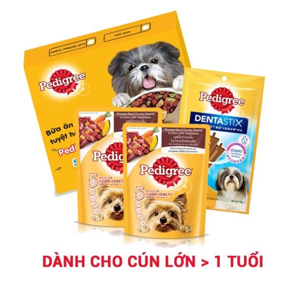 Hộp quà tặng thức ăn Pedigree dành cho chó lớn
