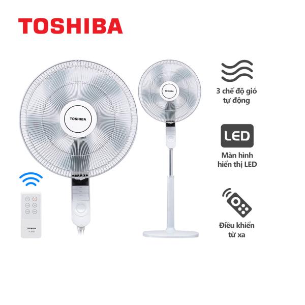 Quạt Đứng Toshiba F-LSA20(H)VN - Màu Xám, Có Điều Khiển - Hàng Chính Hãng