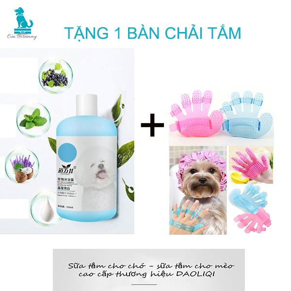 Sữa tắm cho chó mèo thương hiệu DAOLIQUI - Sữa tắm trị ve rận cho chó - Sữa tắm thơm lâu chiết xuất từ tinh dầu dừa khử mùi dưỡng lông mềm mại cho chó mèo - Sữa tắm cho chó poodle - Sữa tắm cho chó lông trắng, lông nâu đỏ