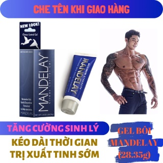 Gel bôi trơn MANDELAY cao cấp kéo dài thời gian, tăng cường sinh lý nam giới mạnh mẽ ( mendelay men man delay ) - hàng chính hãng thumbnail