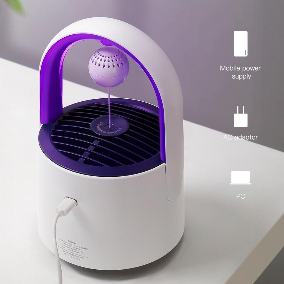Đèn diệt muỗi diệt côn trùng - chống sốt rét- sốt xuất huyết bằng công nghệ tia UV mới nhất thương hiệu Baseus