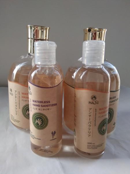 Dung dịch rửa tay khô kháng khuẩn hương trà xanh, trái cây Hasi Kokeshi 500ml