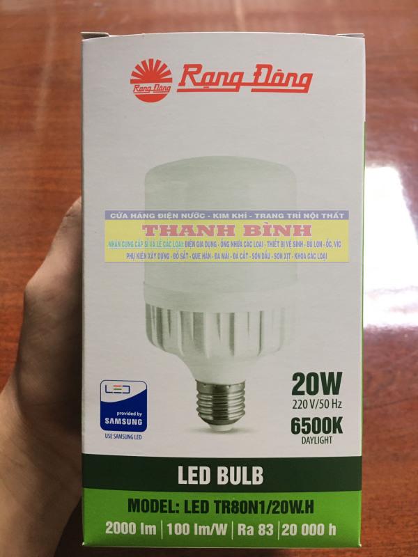 Đèn LED Rạng Đông Công Suất 20W 30W 40W. Sử dụng chip LED Samsung