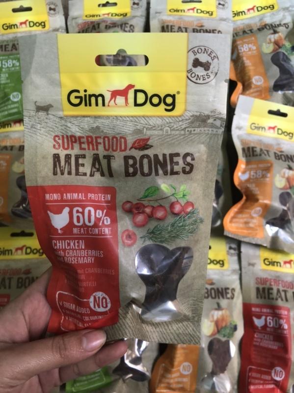 Snack bánh thưởng Gimdog Superfood Meat Bones cho chó 3 vị gói 70g