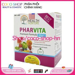 Hộp 100 viên - CHUẨN BYT - [HSD 2024] Vitamin tổng hợp và khoáng chất Pharvita Plus bồi bổ cơ thể, tăng cường sức khỏe, tăng sức đề kháng - Hộp 100 viên- coco shop hn thumbnail