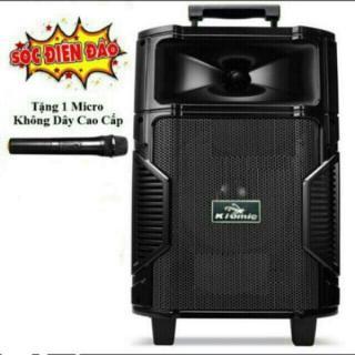 [tặng 1 mic không dây] Loa kéo karaoke bluetooth KIOMIC K108 công suất 150W, thùng gỗ, bass 2 tấc - Phiên bản 2019 - bảng mạch màu cam - baotranstore thumbnail