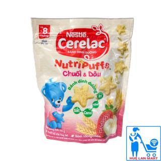 Bánh Ăn Dặm Dinh Dưỡng Nestlé Cerelac Nutripuffs Hương Vị Chuối & Dâu Gói 50g (Dành cho trẻ từ 8 tháng tuổi) thumbnail