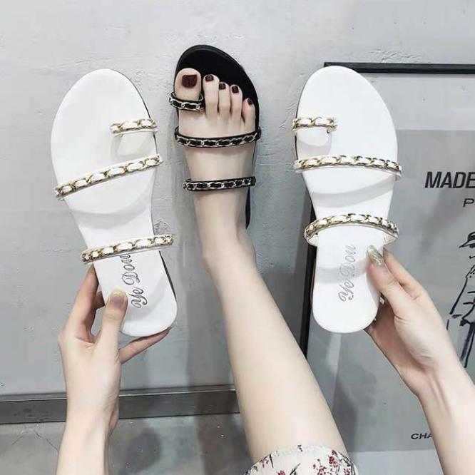 Dép quai xích xỏ ngón siêu xinh Gia Hân Shoes 011 Hàng VNXK Cao Cấp giá rẻ