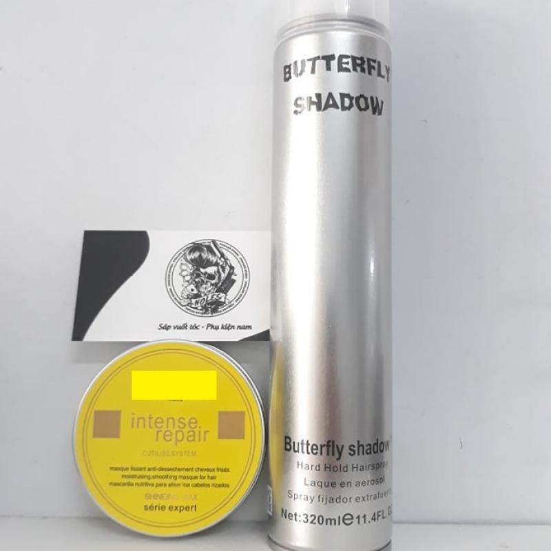 Sáp vuốt tóc Nhãn vàng + Gôm Bạc xịt tóc Butterfly Shadow giá rẻ