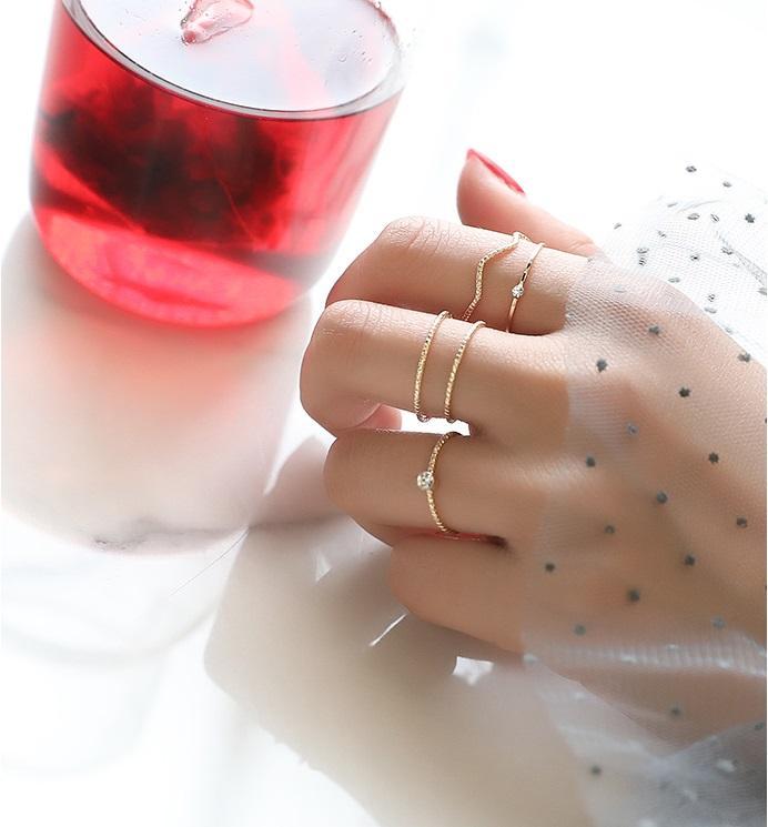 [HCM]Set nhẫn 5 món phong cách ulzzang Hàn Quốc  NHAN31
