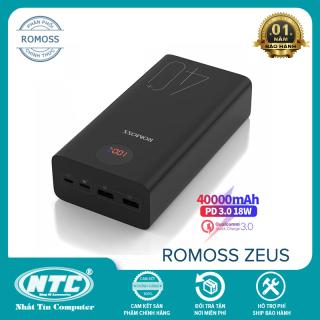 [HCM]Pin sạc dự phòng Romoss ZEUS 40+ dung lượng 40000mAh hỗ trợ sạc nhanh QC3.0 và sạc đảo chiều PD 18W (Đen) - Nhất Tín Computer thumbnail