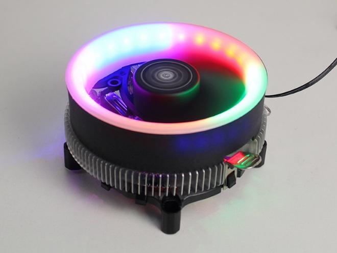 Giá Fan Tản Nhiệt CPU COOLER , Led RGB 16 Triệu Màu, 366 Hiệu Ứng - Tự Động Đổi Màu Không Cần Hub HF-680