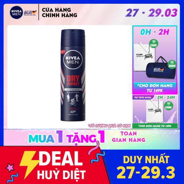 Xịt Ngăn Mùi Khô Thoáng Dành Cho Nam Nivea 150ml - 81602