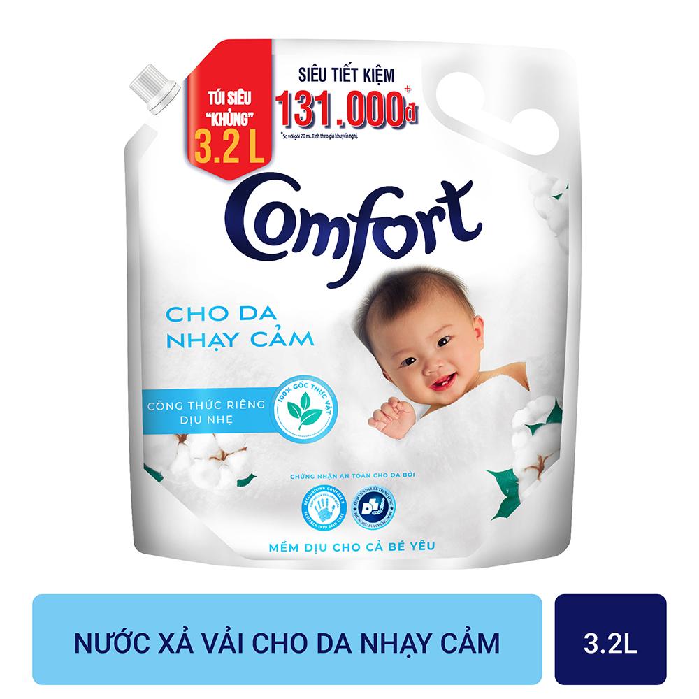 Nước xả vải Comfort Cho Da Nhạy Cảm Túi 3.2L - Phù hợp với cả em bé
