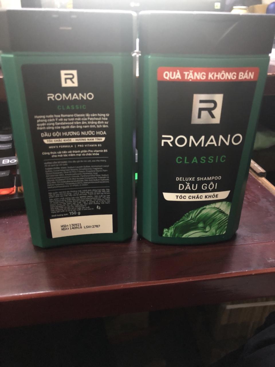 Set 2 chai dầu gội cao cấp Romano  150g/chai