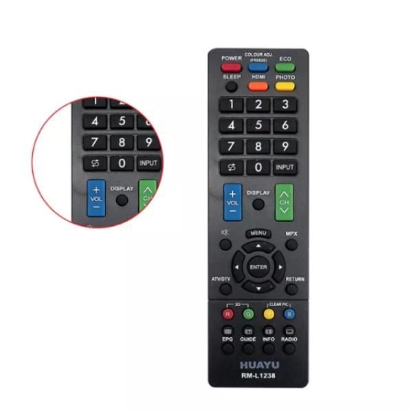Bảng giá Sharp 1238 - Remote Điều khiểu Tivi Sharp RM-L1238 HUAYU