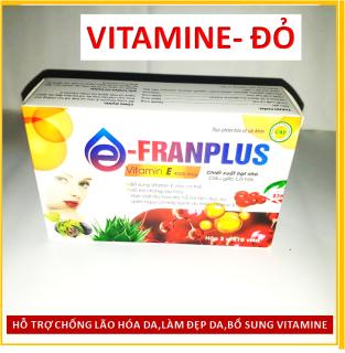 Viên Uống Đẹp Da Franplus , chiết xuất Vitamin E đỏ,Hạt nho, dầu gấc, lô hội, Giúp sáng mịn da, chống lão hóa - thumbnail