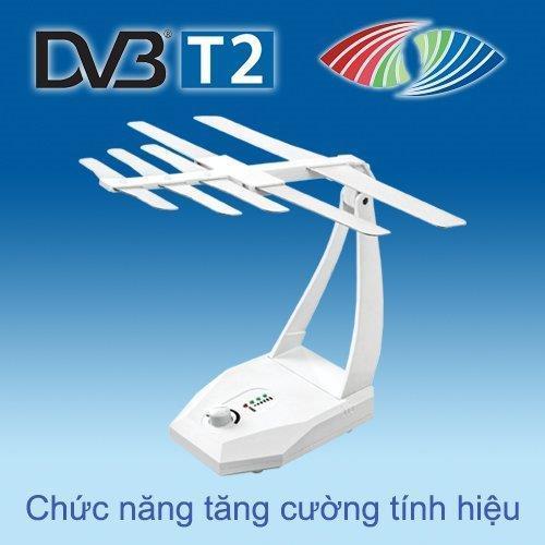 ANTEN (Ăng ten) thu truyền hình số mặt đất DVB-T2 có khuếch đại tín hiệu HKD TB105-KD trắng hoặc TB104-KD đen