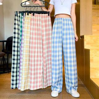 Kiểu quần baggy nữ vải Plaid kẻ caro dáng suông rộng -Top xu hướng 2021 thumbnail