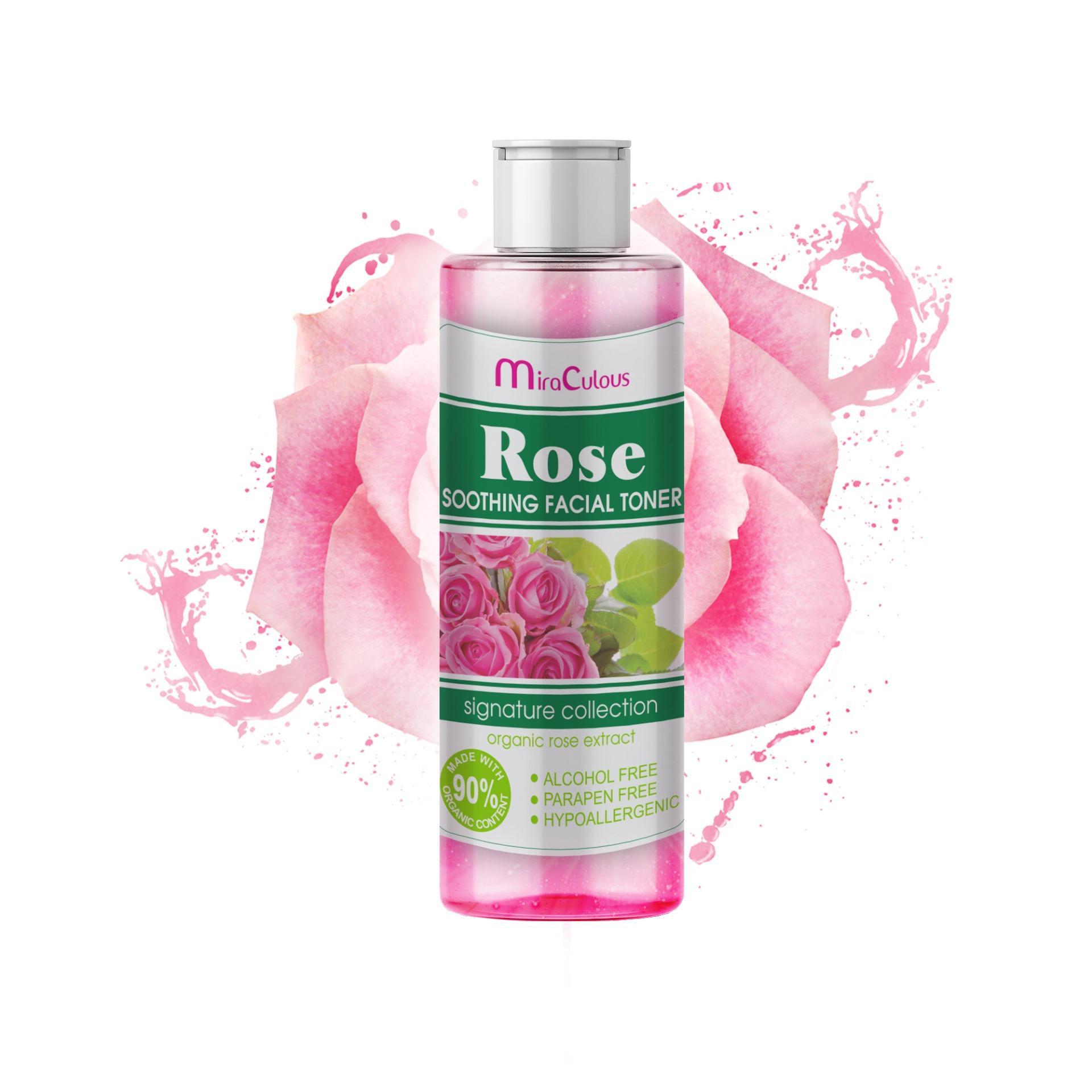 Nước hoa hồng se khít lỗ chân lông trắng da Mira Culous Rose Soothing Facial Hàn Quốc 150ml - Hàng chính hãng nhập khẩu