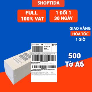 Giấy in nhiệt Shoptida 500 tờ A6 10 15cm 3 lớp tự dán chống nước, sử dụng cho máy in nhiệt Shoptida SP46 thumbnail