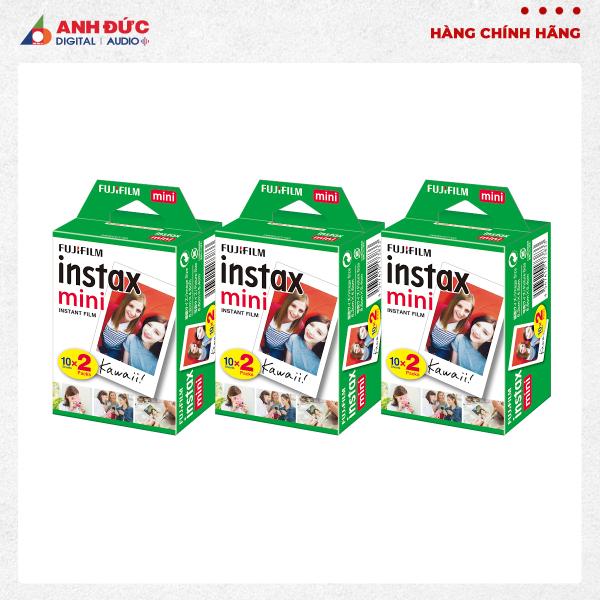 Giá Combo 3 hộp Film chụp hình lấy ngay Fujifilm Instax Mini 10X2/PK (60 tờ)
