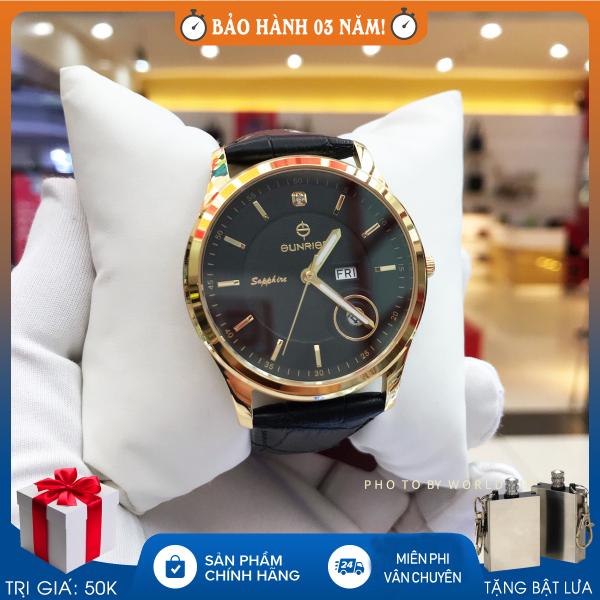Nơi bán Đồng hồ nam Sunrise DM784SWA B Full hộp, thẻ bảo hành 3 năm, kính Sapphire chống xước, chống nước