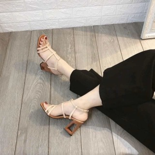 Giày cao gót dây kiểu gót khoét T&T ôm chân cực êm thumbnail