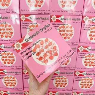 Kẹo Socola Giảm Cân Chokolade Vaegttab Đan Mạch Hộp Hồng (Hộp 40 viên) 3